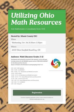 Utilizing Ohio Math Resources