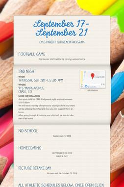 September 17-September 21