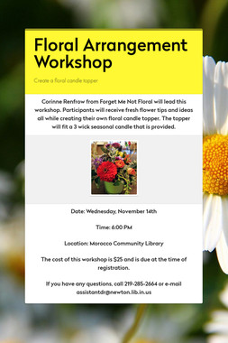 Floral Arrangement Workshop