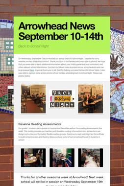 Arrowhead News September 10-14th