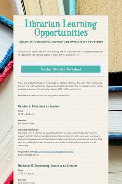 Librarian Learning Opportunities