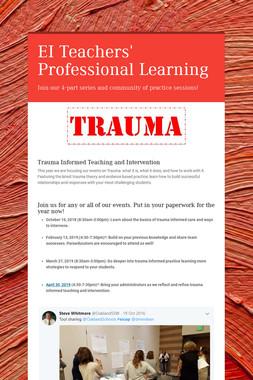 EI Teachers' Professional Learning