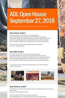ADL Open House September 27, 2018