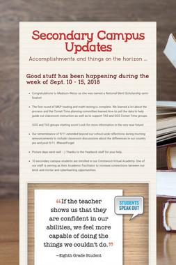 Secondary Campus Updates