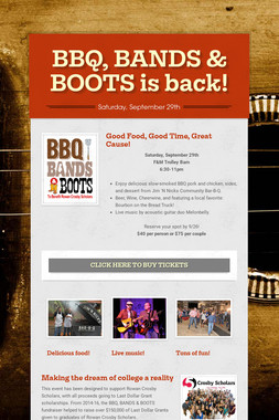 BBQ, BANDS & BOOTS is back!
