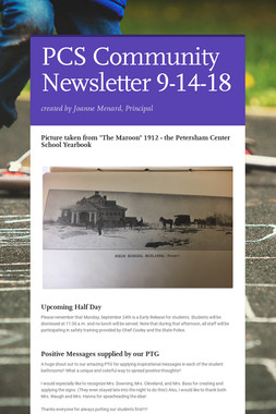 PCS Community Newsletter 9-14-18