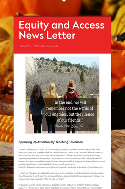 Equity and Access News Letter