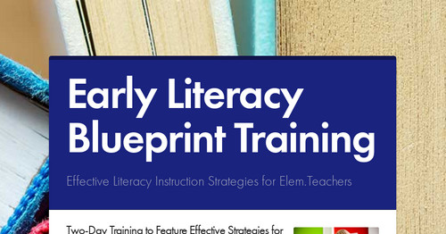 Early Literacy Blueprint Training