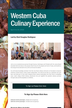 Western Cuba   Culinary Experience