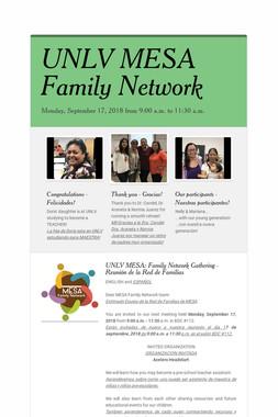 UNLV MESA Family Network