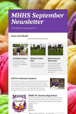 MHHS September Newsletter
