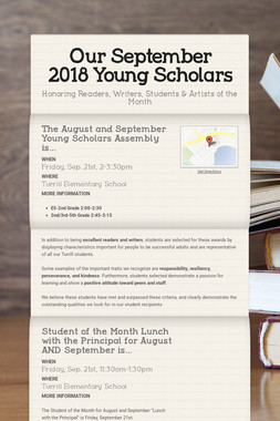 Our September 2018 Young Scholars