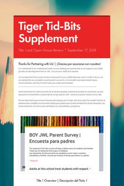 Tiger Tid-Bits Supplement