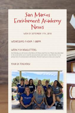 San Marcos Enrichment Academy News