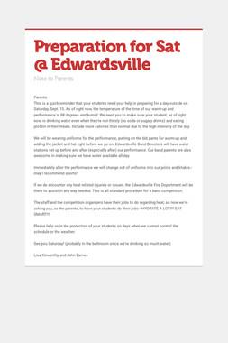 Preparation for Sat @ Edwardsville