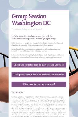 Group Session Washington DC