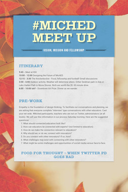 #MichED Meet Up