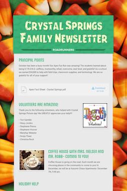 Crystal Springs Family Newsletter