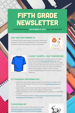Fifth Grade Newsletter