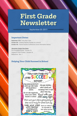 First Grade Newsletter