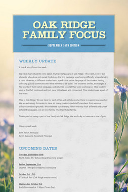 Oak Ridge Family Focus