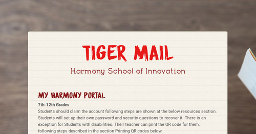 Tiger Mail | Smore Newsletters for Education