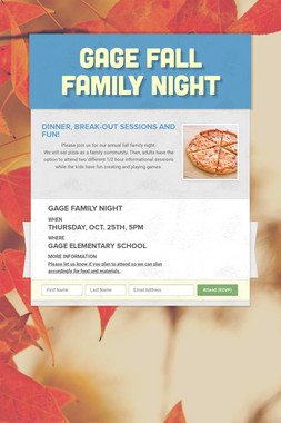 Gage Fall Family Night