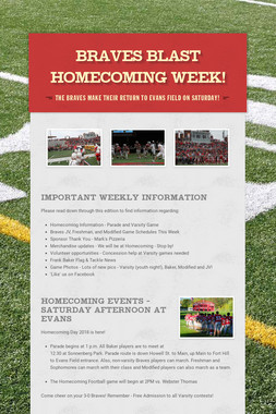 BRAVES BLAST Homecoming Week!