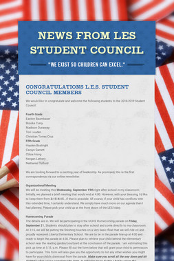News from LES Student Council