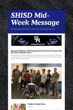SHISD Mid-Week Message