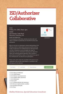 ISD/Authorizer Collaborative