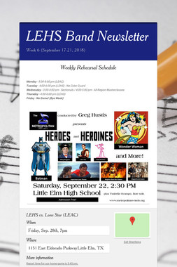 LEHS Band Newsletter