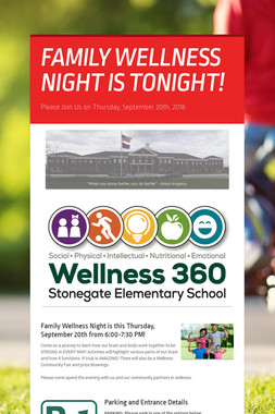 FAMILY WELLNESS NIGHT IS TONIGHT!