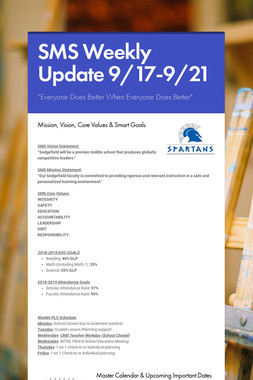 SMS Weekly Update 9/17-9/21