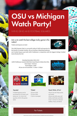 OSU vs Michigan Watch Party!
