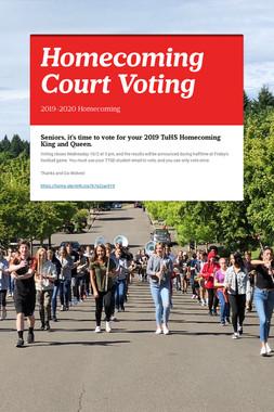 2019 PROM Court Voting