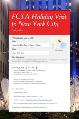 FCTA Holiday Visit to New York City