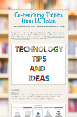 Co-teaching Tidbits from LC Team