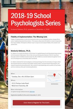 2018-19 School Psychologists Series
