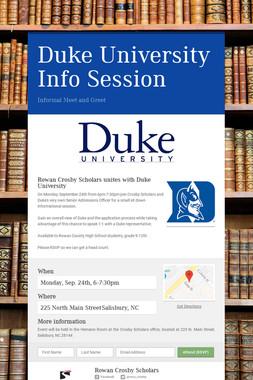 Duke University Info Session