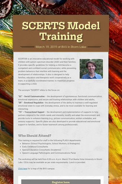 SCERTS Model Training