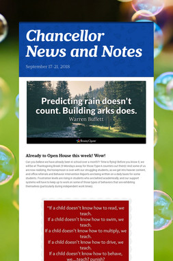 Chancellor News and Notes