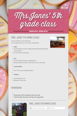 Mrs.Jones' 5th grade class