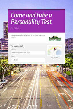 Come and take a Personality Test