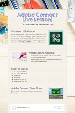 Adobe Connect Live Lesson!