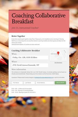 Coaching Collaborative Breakfast