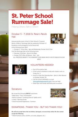 St. Peter School Rummage Sale!