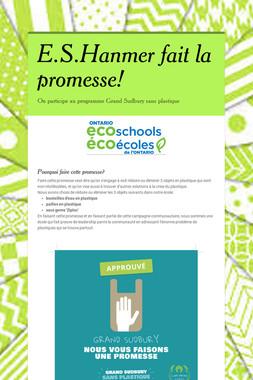 E.S.Hanmer fait la promesse!
