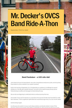 Mr. Decker's OVCS Band Ride-A-Thon