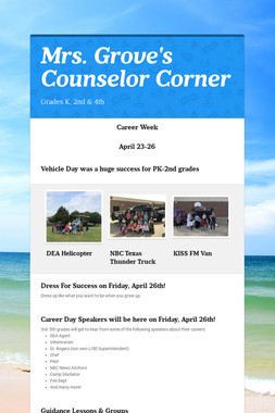 Mrs. Grove's Counselor Corner